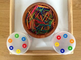 Pre-school Play: Colour matching / posting activity   Fine motor  activities, Color activities, Preschool colors
