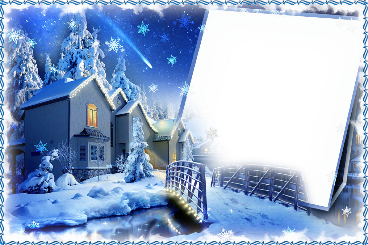 Frame For Photo Winter Evening Png 1280 853 Winter Photo Frame Frame Winter Photos