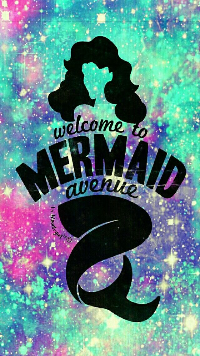 Cute Mermaid Phone Wallpaper Mermaid Ave Galaxy Wallpaper I Created For The App Cocoppa