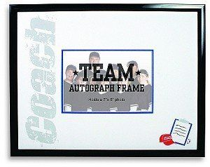 coach autograph picture frame baseball football basketball hockey soccer cheer