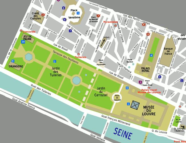 Jardin Des Tuileries Plan Recherche Google Rue Rivoli