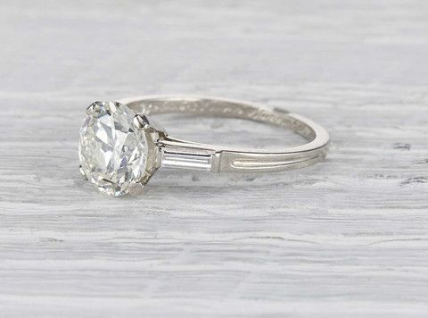 4a4631ec7 Antique Art Deco Tiffany & Co. engagement ring made in platinum and  centered with a GIA certified 2.03 carat old European cut diamond with I  color and VVS2 ...