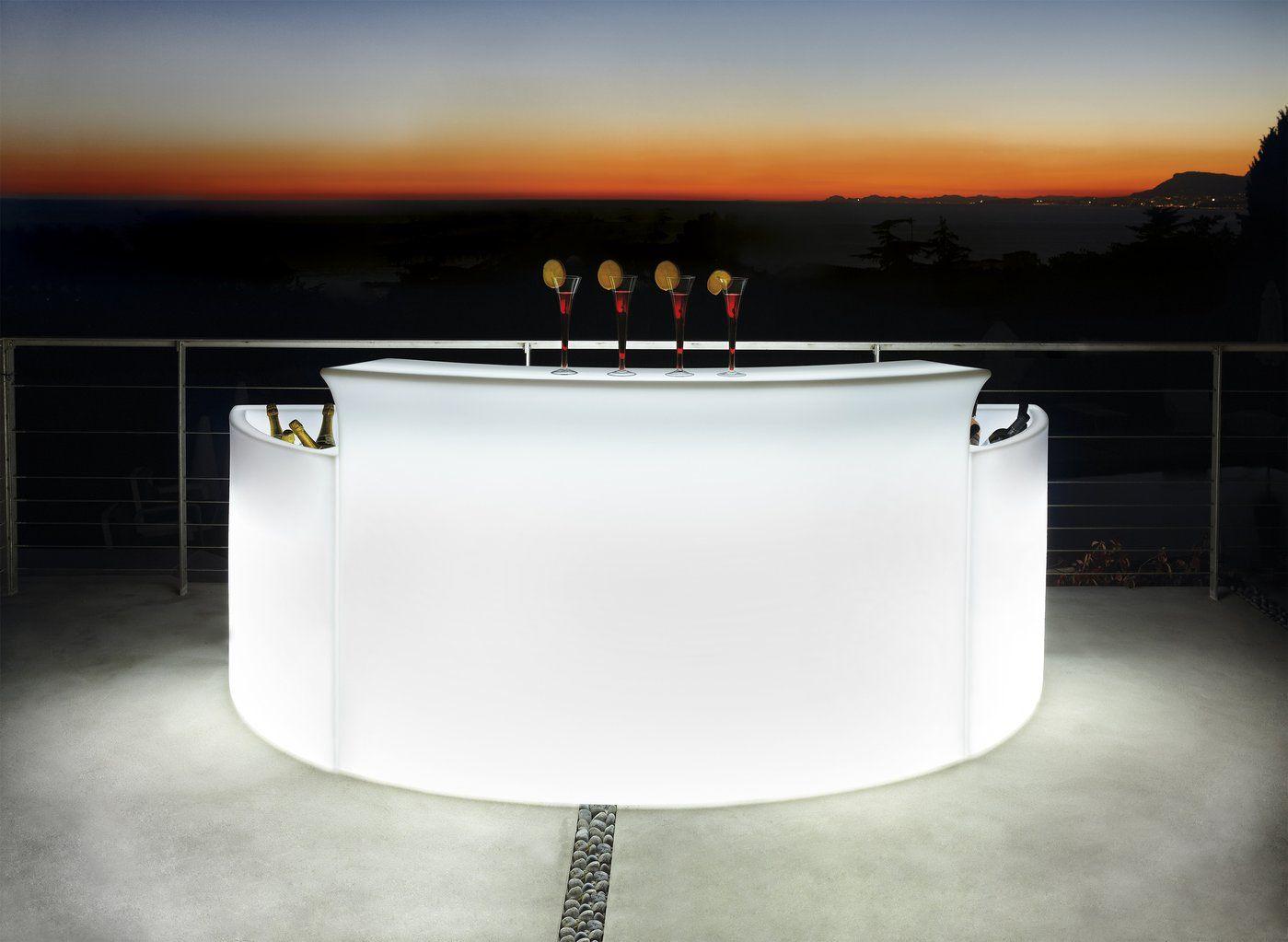 Beleuchtbare Bar Break Bar Halbrund Von Slide Studio Produktprasentation Slide Brandamba Com Bar Casas Ambiente
