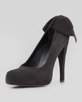 5dd2c8cf2 Vera Wang Lavender Jane Bow-Back Suede Pump, Black on shopstyle.com ...