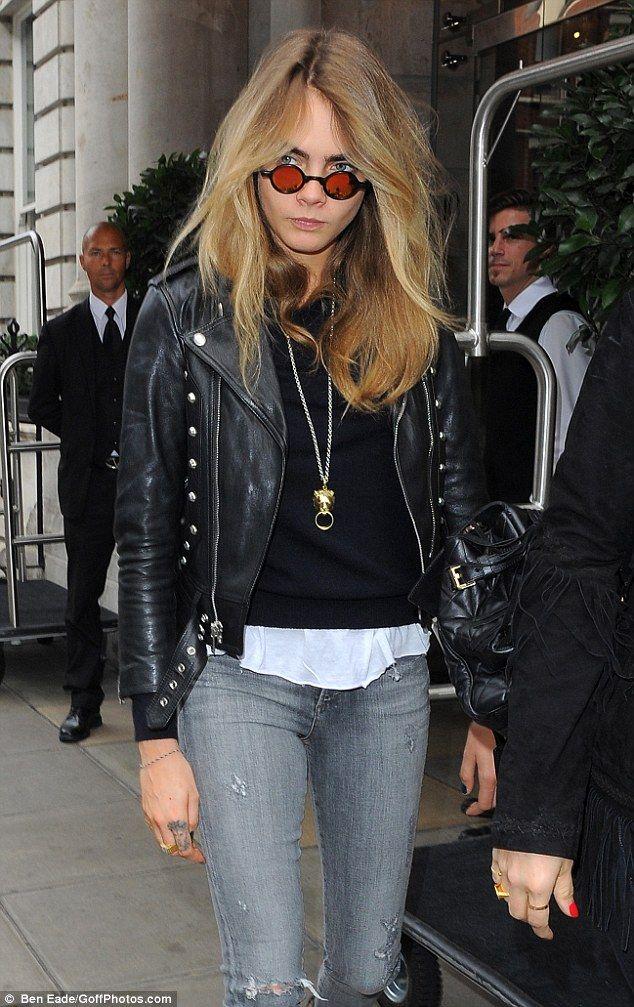 Grunge girl: Cara Delevingne left the glamour of London