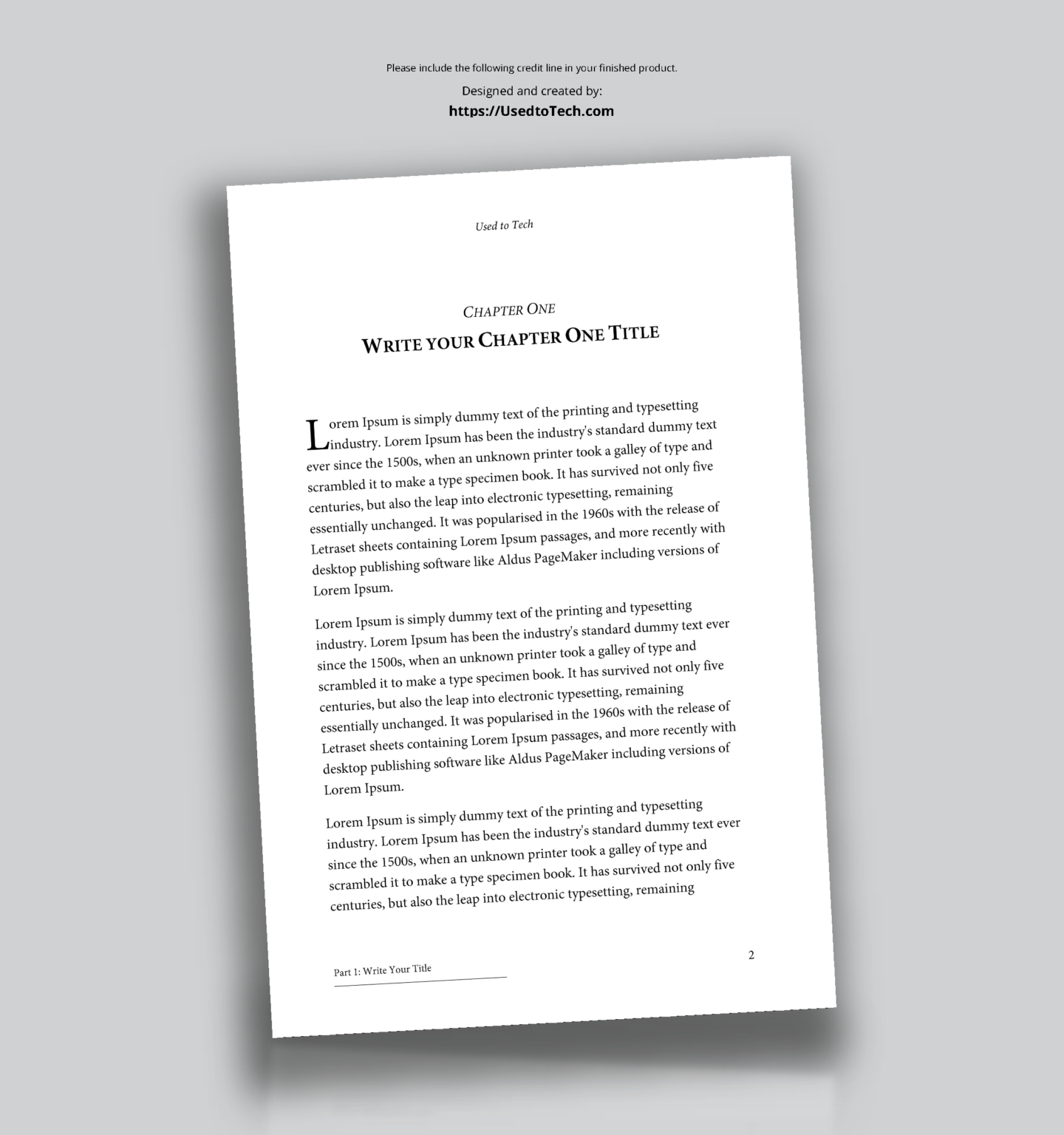 Professional Looking Book Template For Word Free Used To Tech With 6x9 Book Template For Word Booklet Template Book Template Word Template