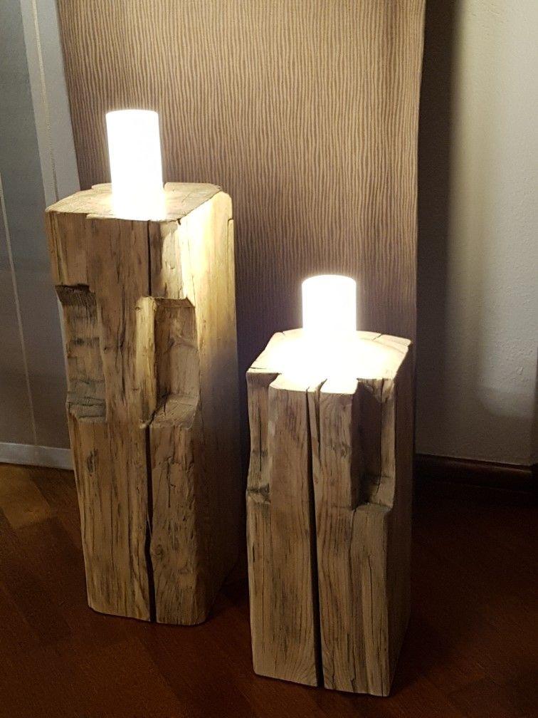 leuchten aus alten balken wohn design. Black Bedroom Furniture Sets. Home Design Ideas
