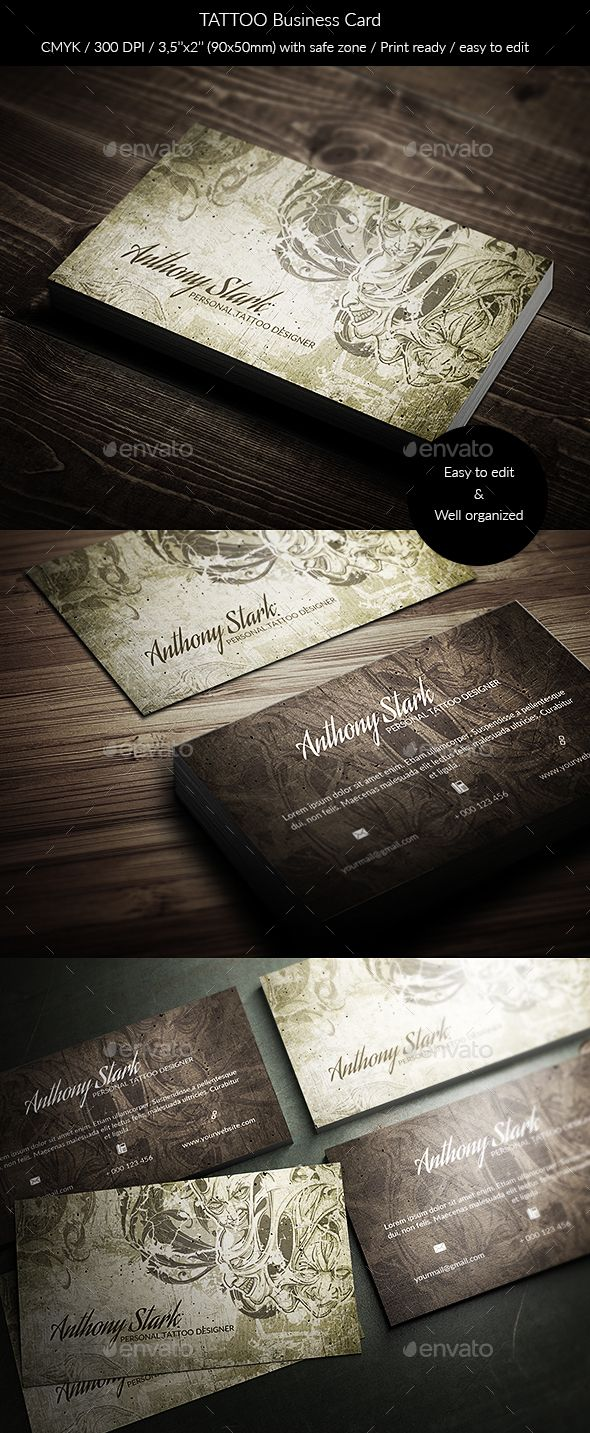 Tattoo Business Card | Business Cards by Eddie Walker | Pinterest ...