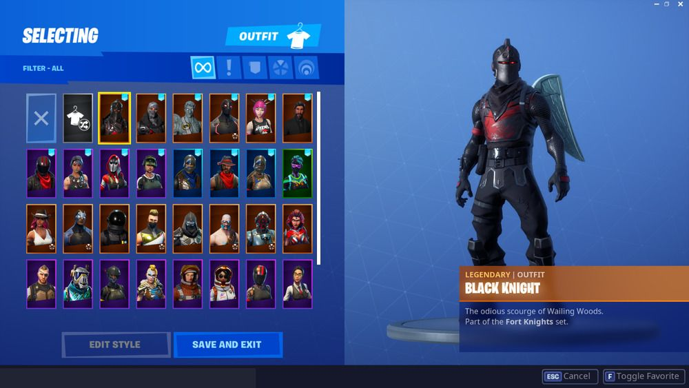 Rare Stacked Fortnite Account With Black Knight Limited