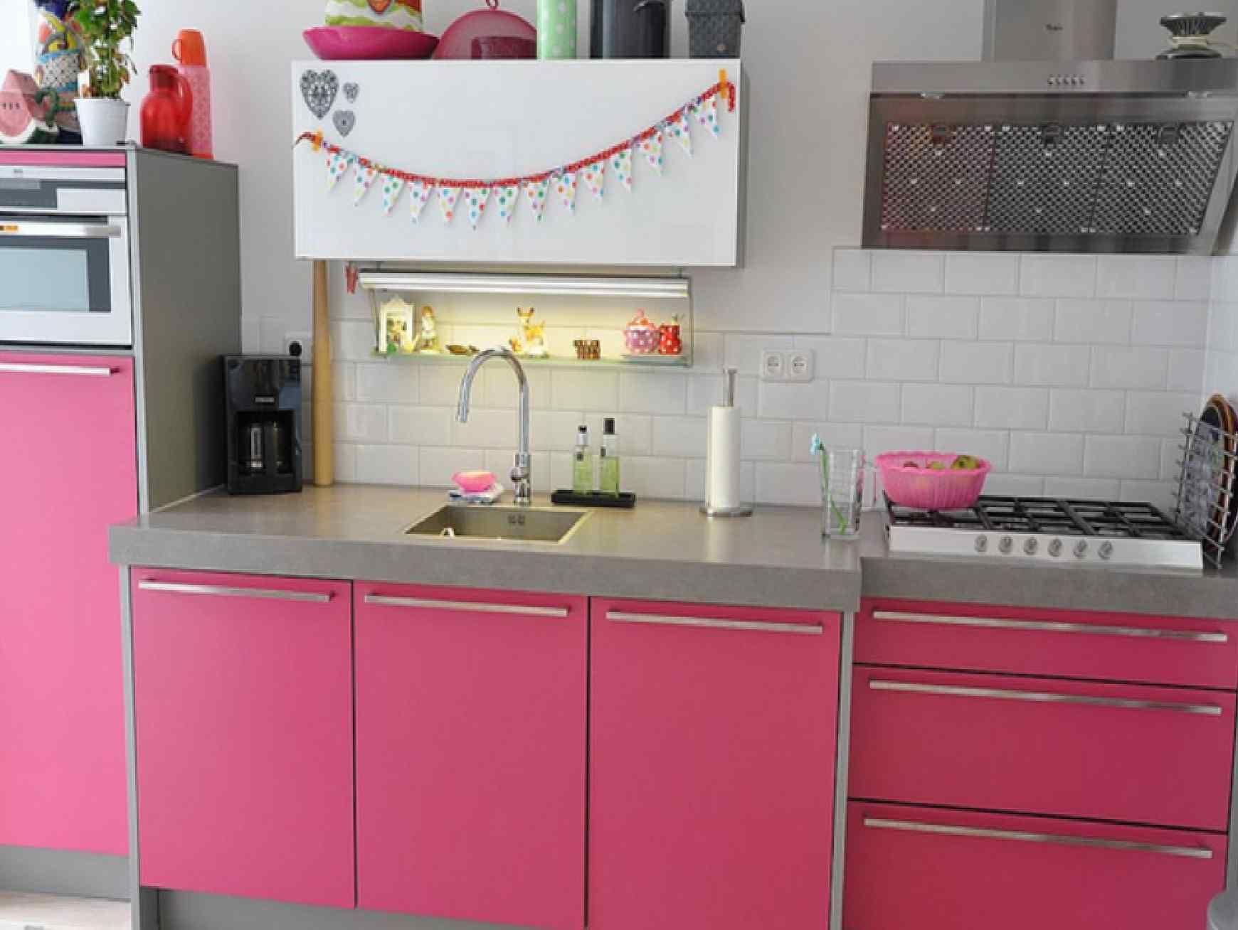 pink kitchen fresh ideas interior design - Interior Design Kitchen Ideas
