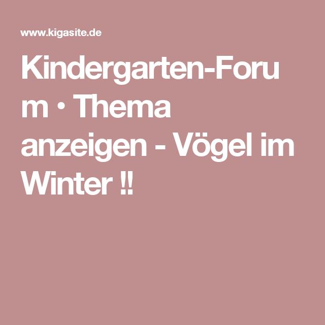Kindergarten-Forum • Thema anzeigen - Vögel im Winter !!
