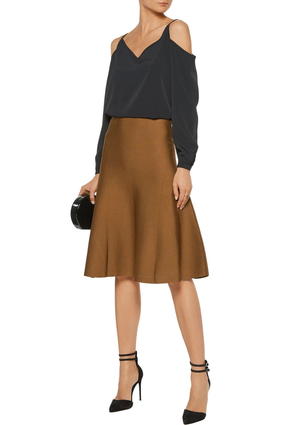Shop on-sale Cushnie et Ochs Pleated stretch-knit skirt . Browse other  discount