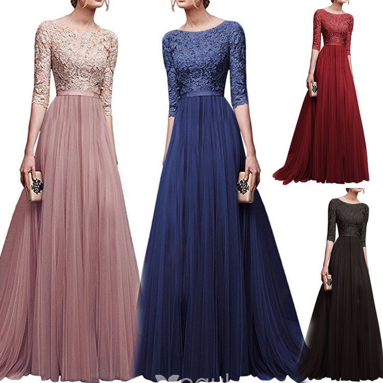 Details about  /Women Ladies Long Sleeve Dress Wedding Cocktail Bridesmaid Formal Party Dresses
