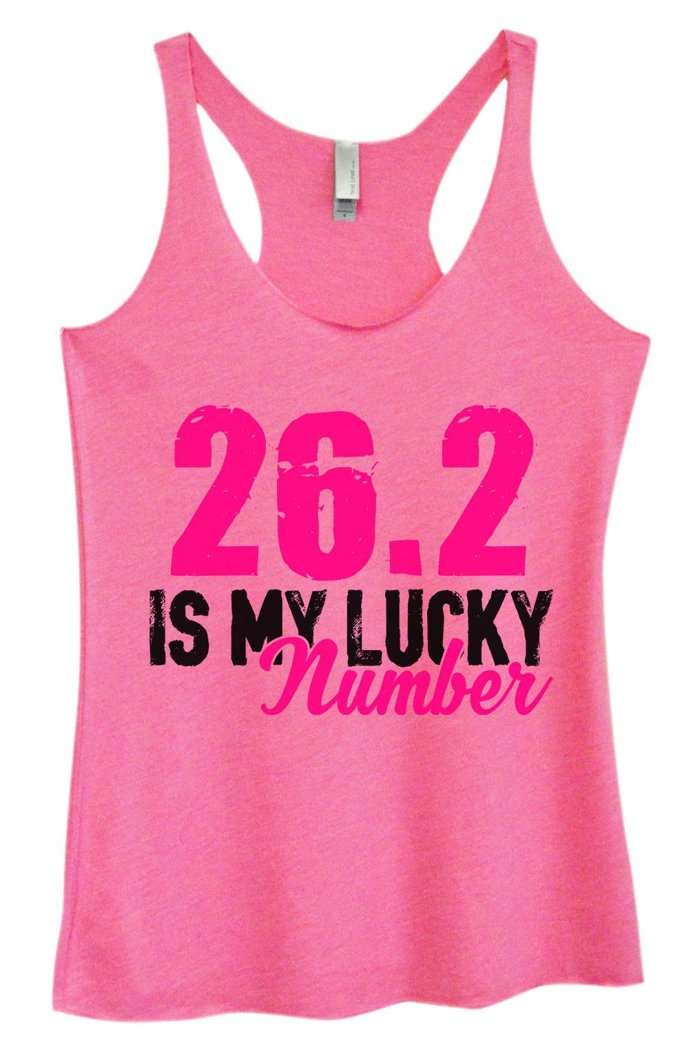 Womens Fashion Triblend Tank Top - 26.2 Is My Lucky Number - Tri-1382