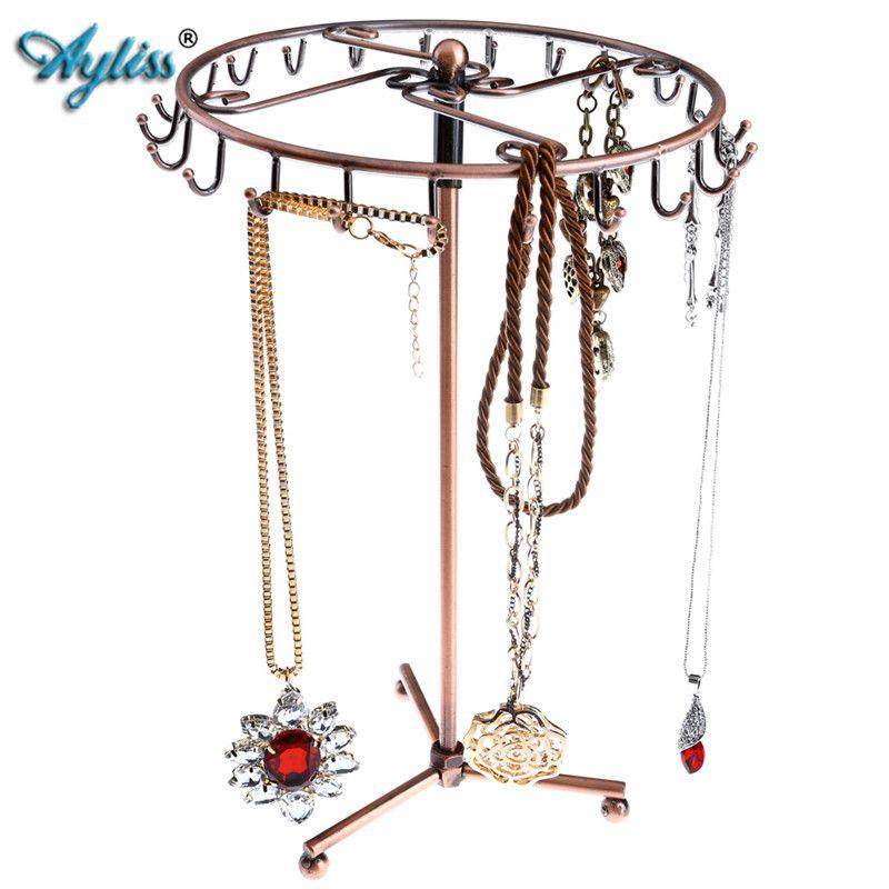 Ayliss 23 Hooks European Style Jewelry Rotating Rack Necklace Hanger