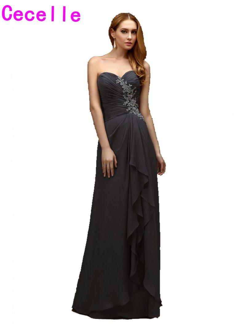 real grey long aline bridesmaids dresses sweetheart beaded