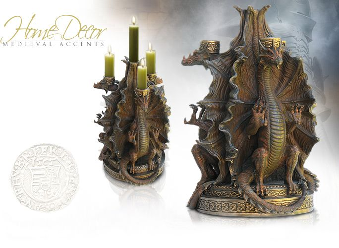 NobleWares Image Of Four Tier Dragon Candelabrum 7038 By YTC Summit · Medieval  Home DecorMedieval Dragon