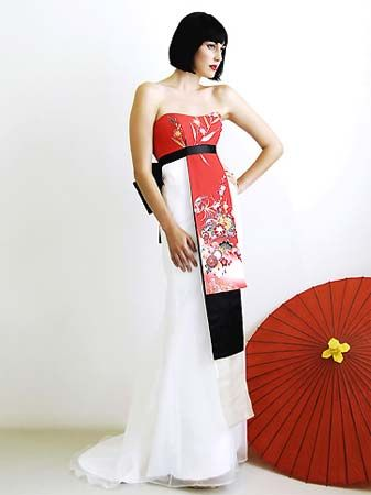 Japanese style formal dress