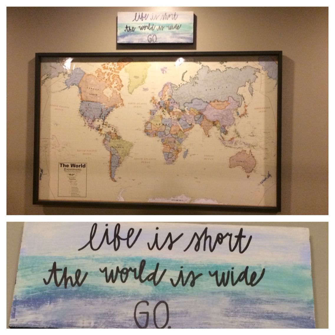 world map travel wall a laminated map from costco glued on laminated wall maps id=38212