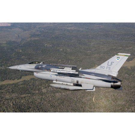 F-16C Fighting Falcon during a sortie over Arizona Canvas Art - Erik RoelofsStocktrek Images (18 x 12)