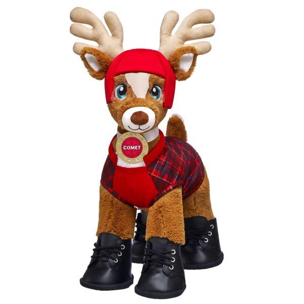 Santa S Reindeer Set Comet Build A Bear Build A Bear Custom Teddy Bear Santa And Reindeer