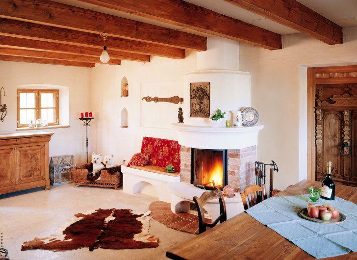 2] klassische kamin im landhaus-stil | wohnzimmer | pinterest ... - Kamine Landhaus Chalet