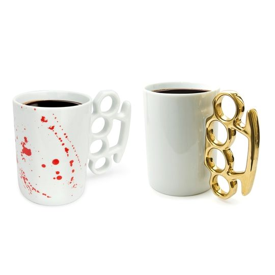 All the dormmates will marvel at this mug and its mean left hook. HAHAHA-- Love