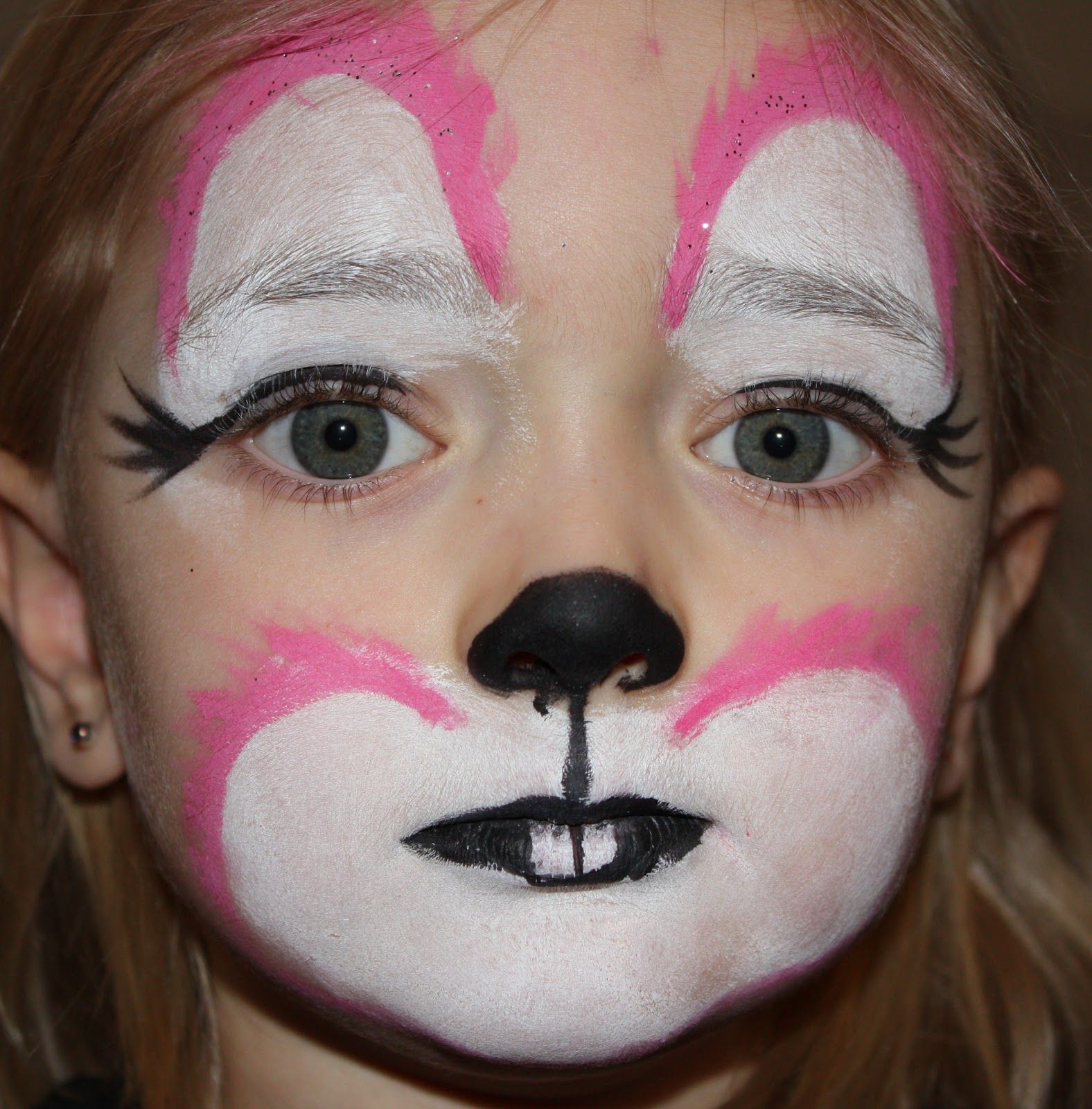 Bon Cute Bunny Face Paint Images Pictures Becuo Within Bunny Face Paint