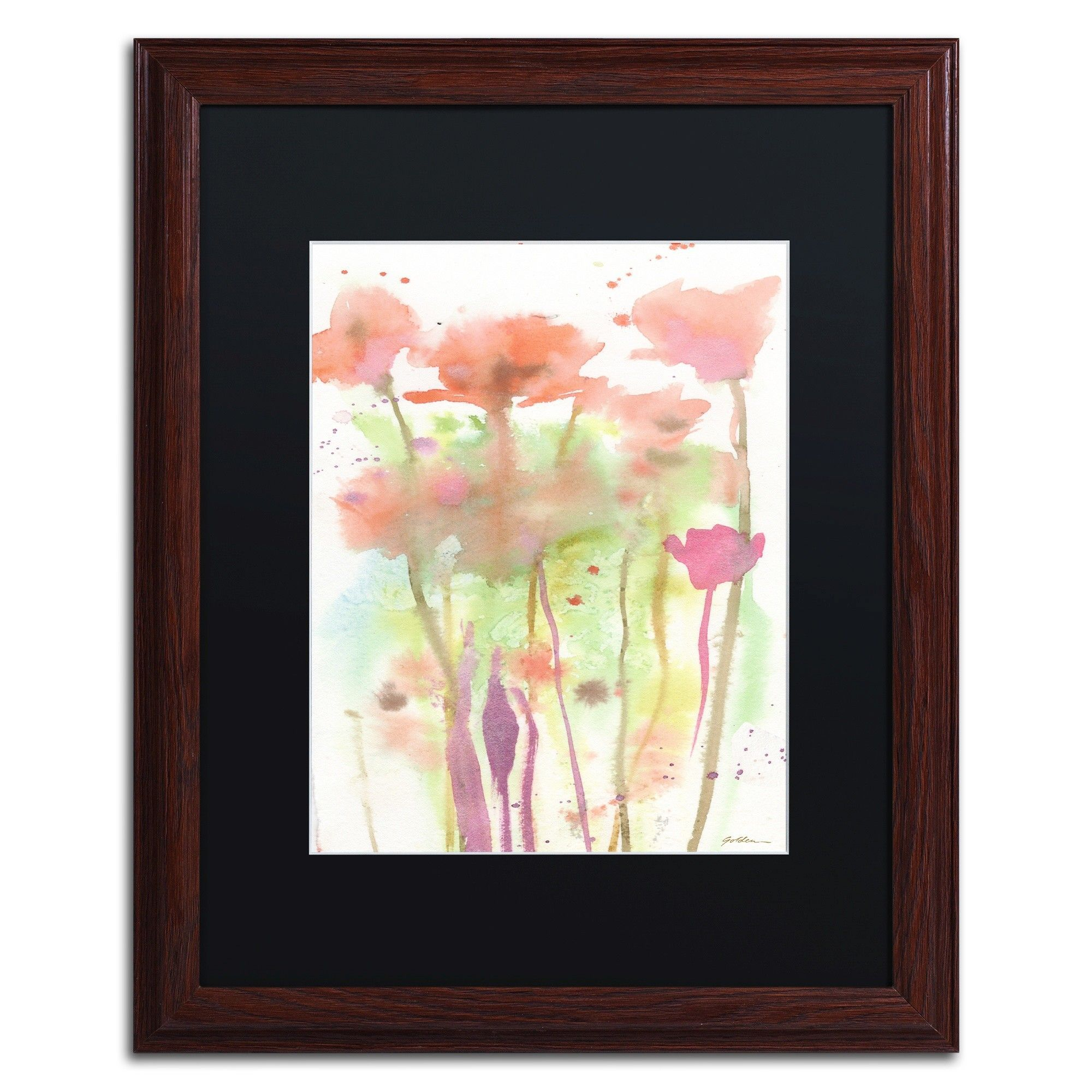 Red Poppy Impressions by Sheila Golden Framed Painting Print