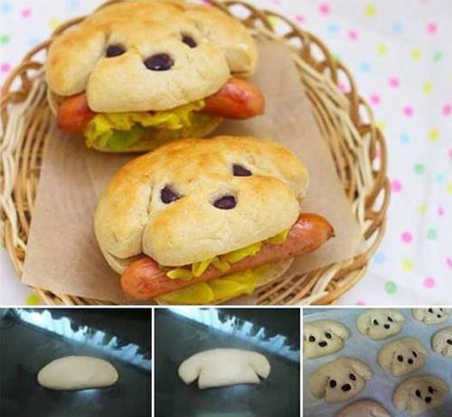 welpen br tchen f r hot dogs mit oliven rezepte f r kinder pinterest hot dogs oliven. Black Bedroom Furniture Sets. Home Design Ideas