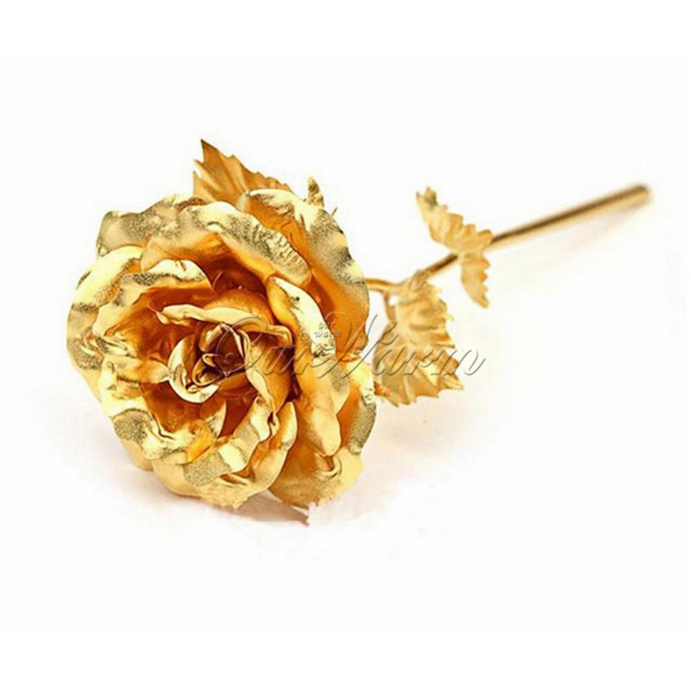 24k Gold Foil Plated Rose Artificial Flowers For Decoration Gold Dipped Rose Valentine S Day Flowers Wedding Decoration Golden Rose Gold Aesthetic Rose Flower