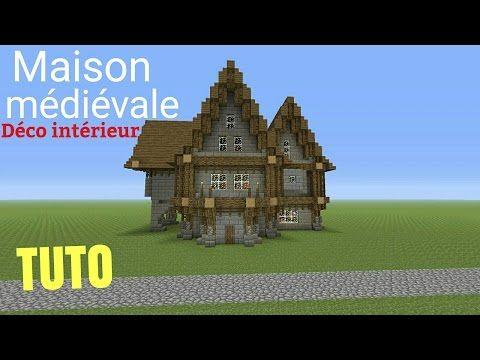 TUTO Minecraft Maison Médiévale Déco Intérieur Ps4 (PS3/XBOX360/XBOXONE)  #interieur