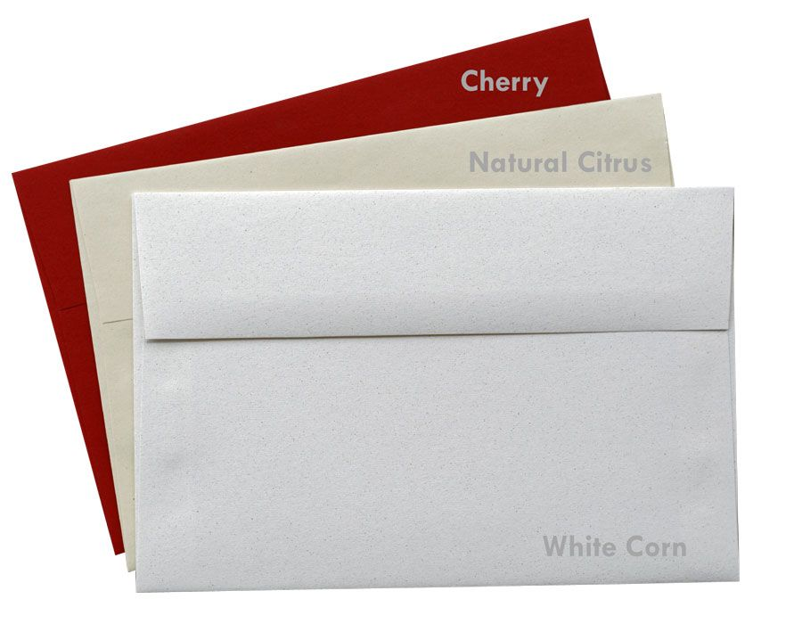 Crush Cherry 81t A9 Envelopes 5 75 X 8 75 50 Pk Natural Citrus Crushes White Corn