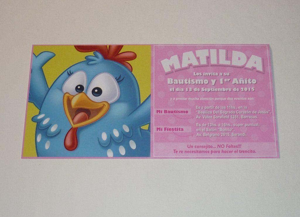Invitación Gallina Pintadita 12 Unidades Invitacion