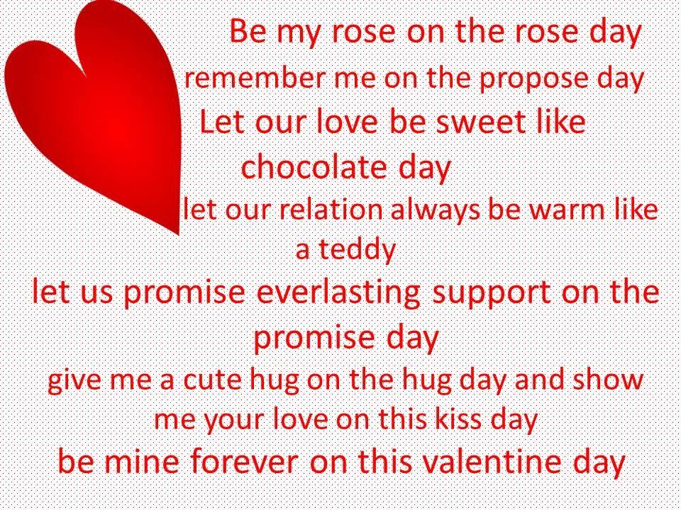 Valentine Week List 2020 in 2020 | Propose day, Valentine day week list, Images for valentines day