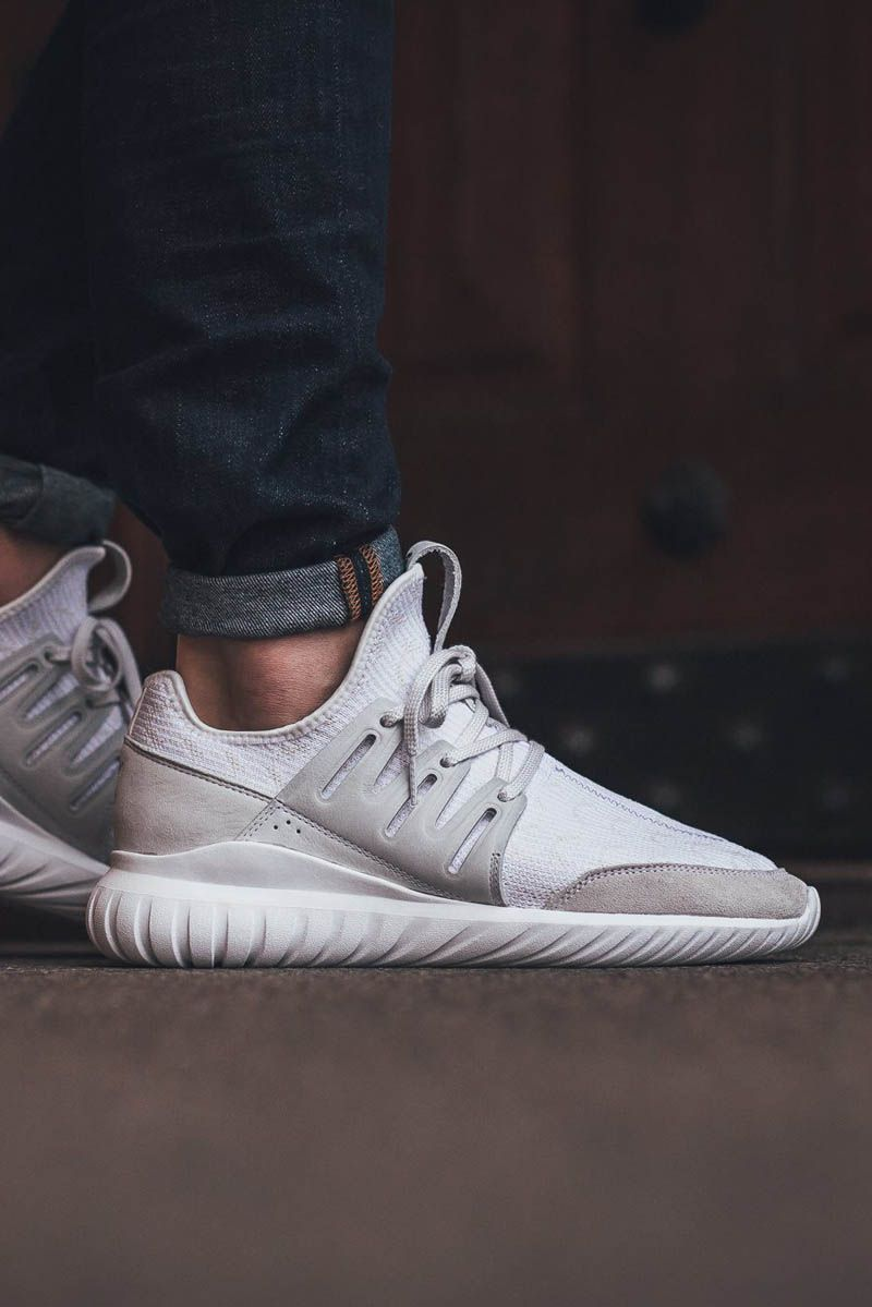 adidas Men's Tubular Radial, LGTGRE/CORE BLACK