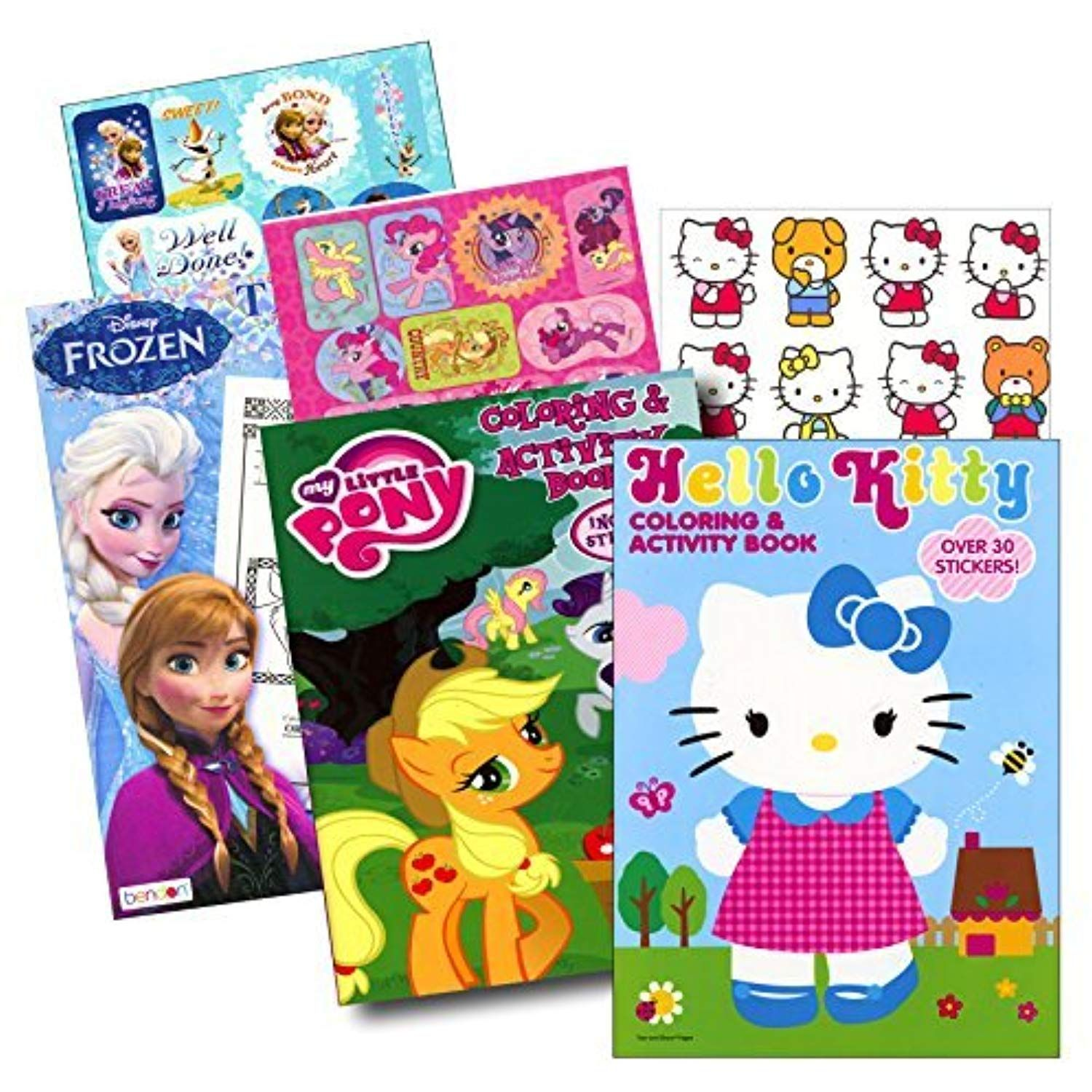 Coloring Books With Stickers Assortment Hello Kitty Coloring Book My Little Pony Coloring Book Hello Kitty Coloring My Little Pony Coloring Frozen Coloring
