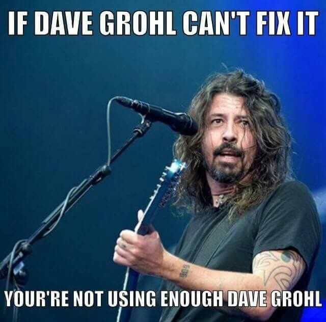 Not possible to ever have enough Grohl | Musica, Llamar la ...
