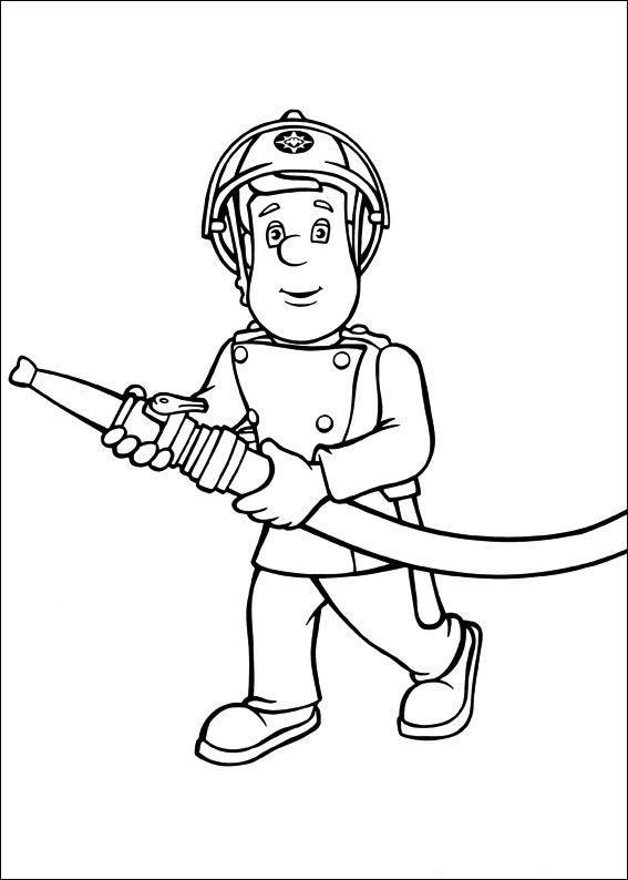 Kleurplaten Sam De Brandweerman.Kleurplaat Brandweerman Sam Kids N Fun Kids Brandweerman