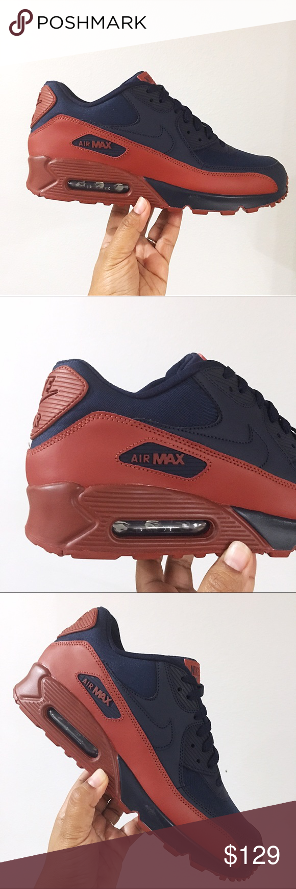 cheaper 28d77 63b12 Nike Shoes · Stone · Nike Air Max 90 Essential Navy Clay Brown Men 10.5  Brand New In Box no lid