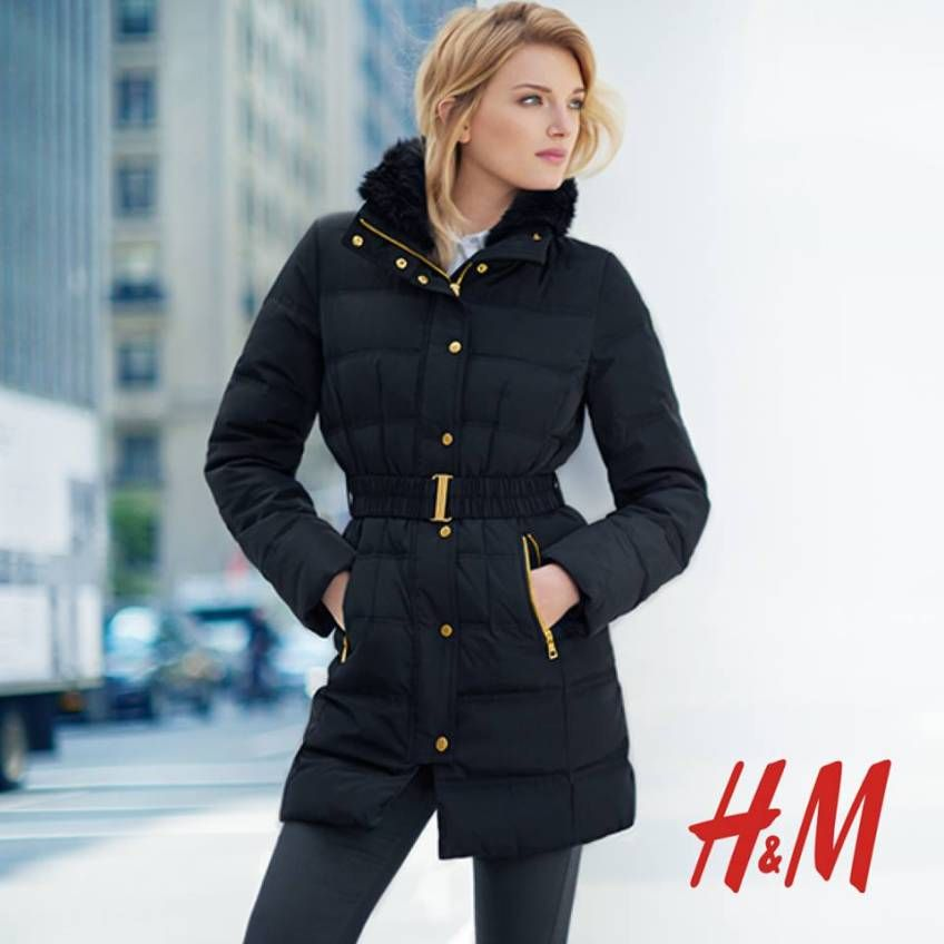 nice looking H&M belted padded puffer coat | my favourite long ...
