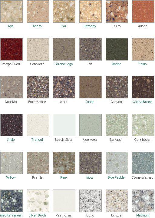 Dupont Corian Countertop Colors Slate Or Mediterranean