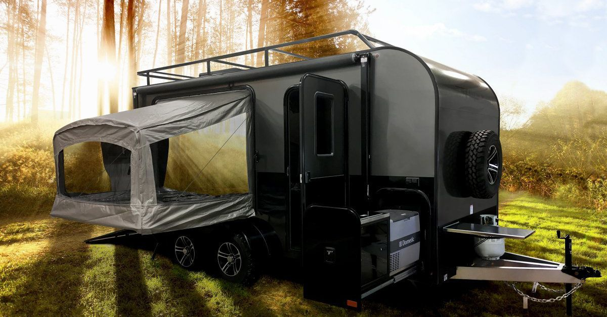 Trailer with pop-out tents sleeps 4 and hauls all your gear