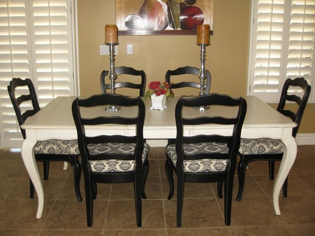 hand painted table and chairs   Sense and Simplicity: Painting the ...