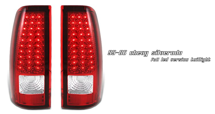 Chevrolet Silverado 1999 2006 Red Led Tail Lights Led Tail Lights Chevy Silverado Accessories Silverado Accessories