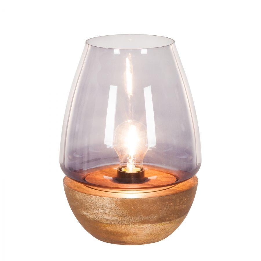 Tischleuchte Mourenx | Tischleuchte, Bambus und Glas