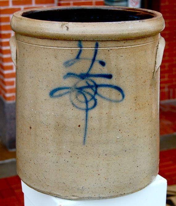 Antique Red Wing 4 gallon salt glazed stoneware by hazelhome