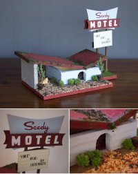 Seedy Motel Birdhouse