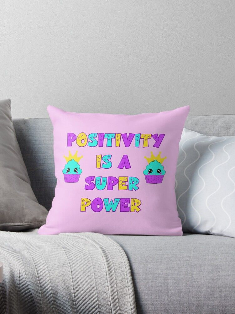 Positivity Is A Superpower Choose Happiness Inspirational Motivational Quote Optimism Happiness Inspirational Quotes Motivation Choose Happy Throw Pillows