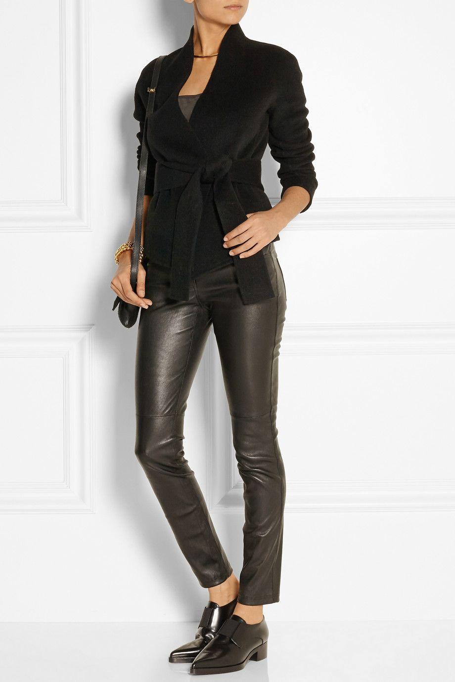 Donna Karan|Belted cashmere jacket|NET-A-PORTER.COM